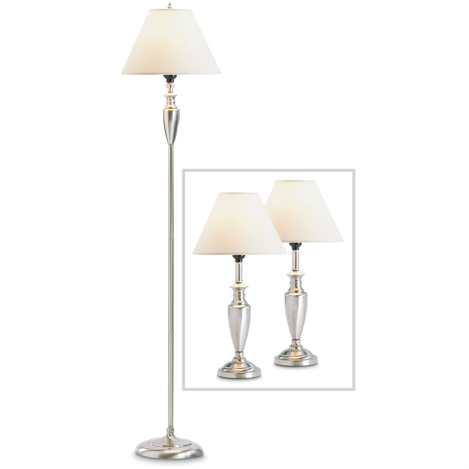 Classic Silver Lamp Set