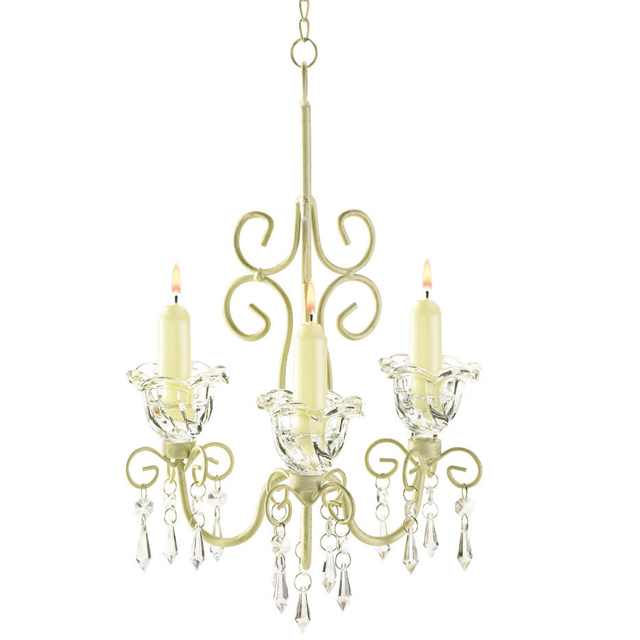 Shabby Chic Scroll Candle Chandelier