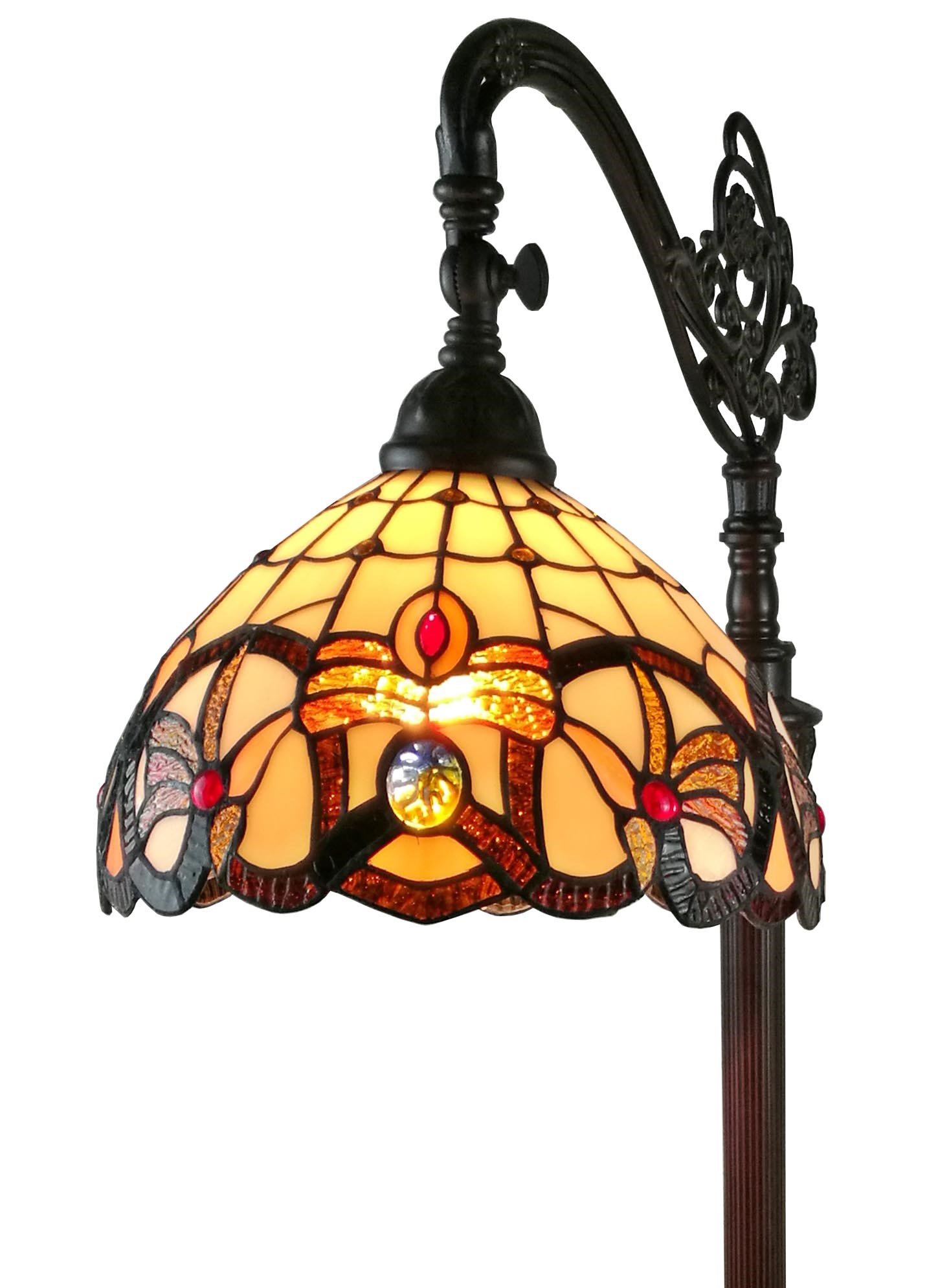 62 Inch Tiffany Style Victorian Reading Floor Lamp
