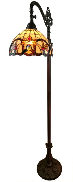 62-inch Tiffany-Style Victorian Reading Floor Lamp