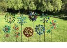 7-Foot Rainbow Leaves Windmill Garden Stake