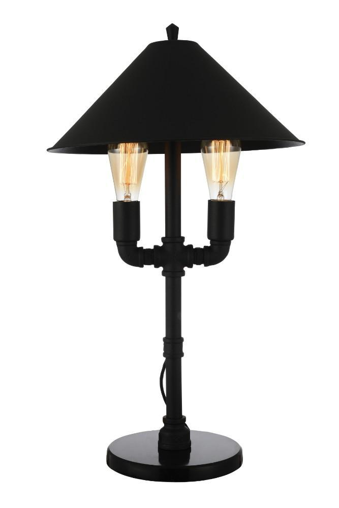 BM154365 Alluring Contemporary Metal Table Lamp, Black