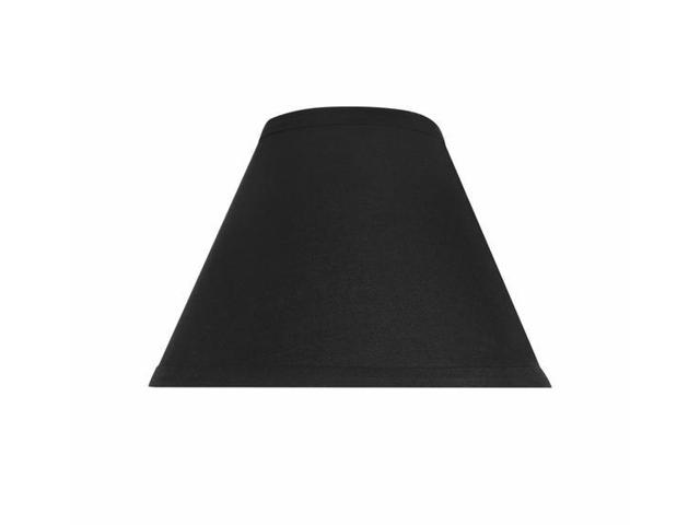 "Empire Black Linen lamp Shade 16"" with washer"