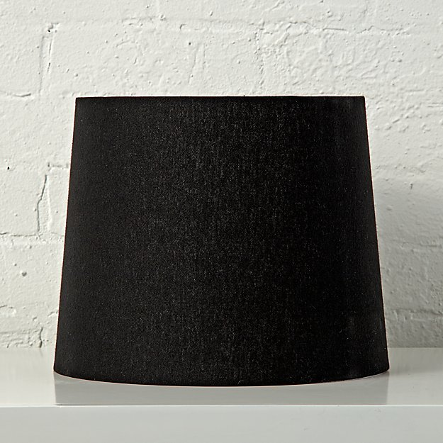 Black Linen Rectangle Lamp Shade w/Washer 18""