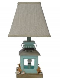 Coastal Lantern Accent Lamp with night light