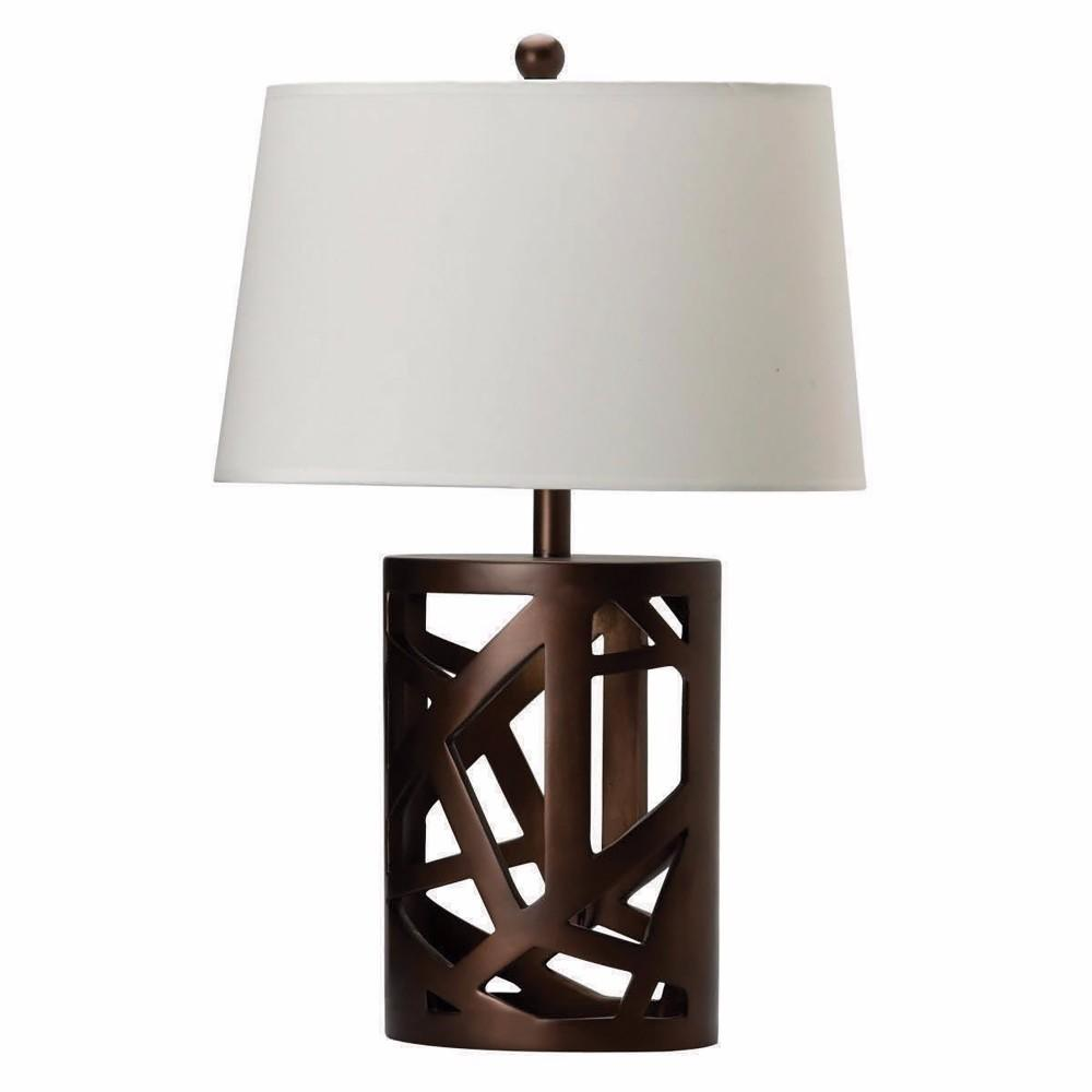 Contemporary Table Lamp With Intriguing Base