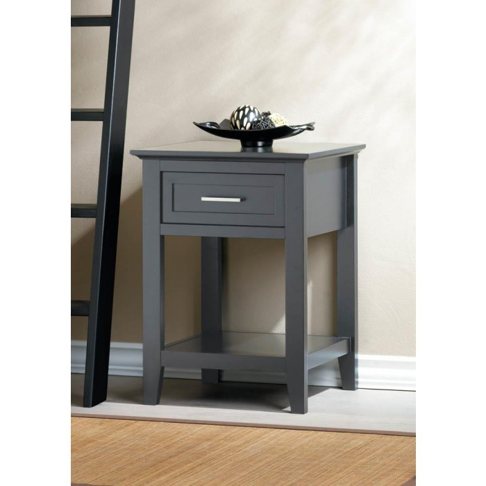 Crosstown Traditional Wood Side Table - Gray