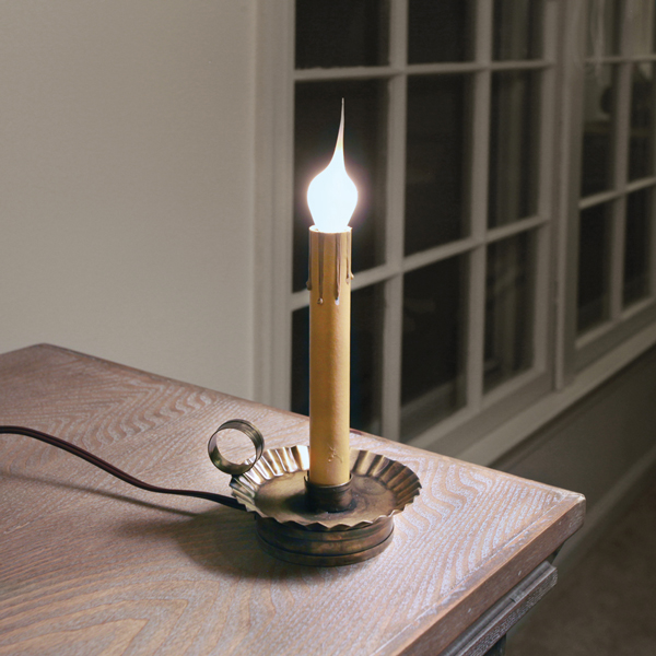Electric Candle Holder with 6'' Socket - Antique Brass - Box of 2