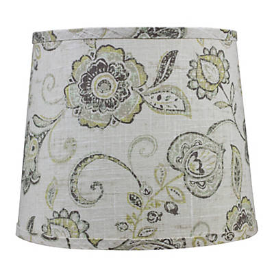 Cottage Lily Jacobean Brown and Tan Lamp shade