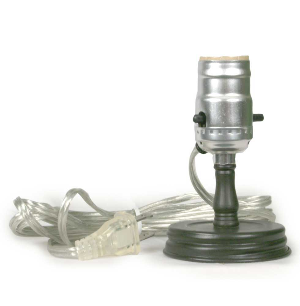 Mason Jar Lamp Adapter Rustic Brown