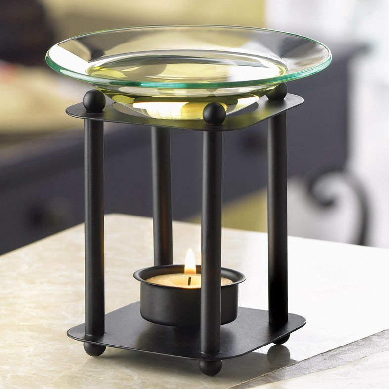Matte Black Modern Oil Warmer