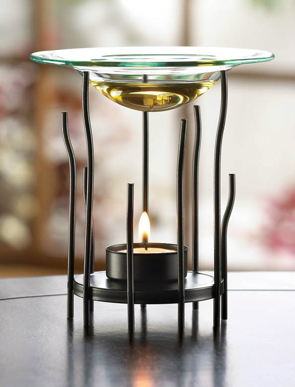 Matte Black Natural Rays Oil Warmer