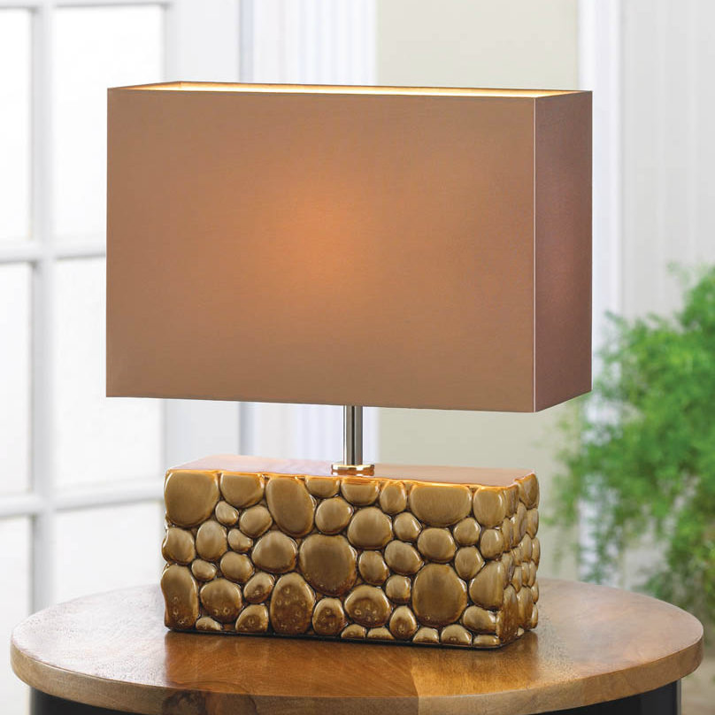 River Rocks Ceramic Geometric Table Lamp
