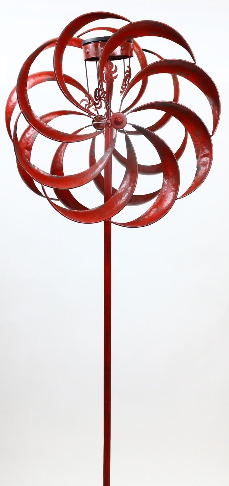 Solar Red Windmill Garden Stake