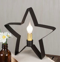 Star Windowsill Light - Rustic Brown