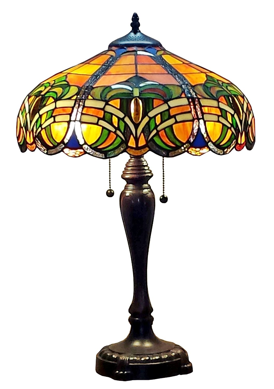Tiffany Style 2-light 25-inch Baroque Table Lamp