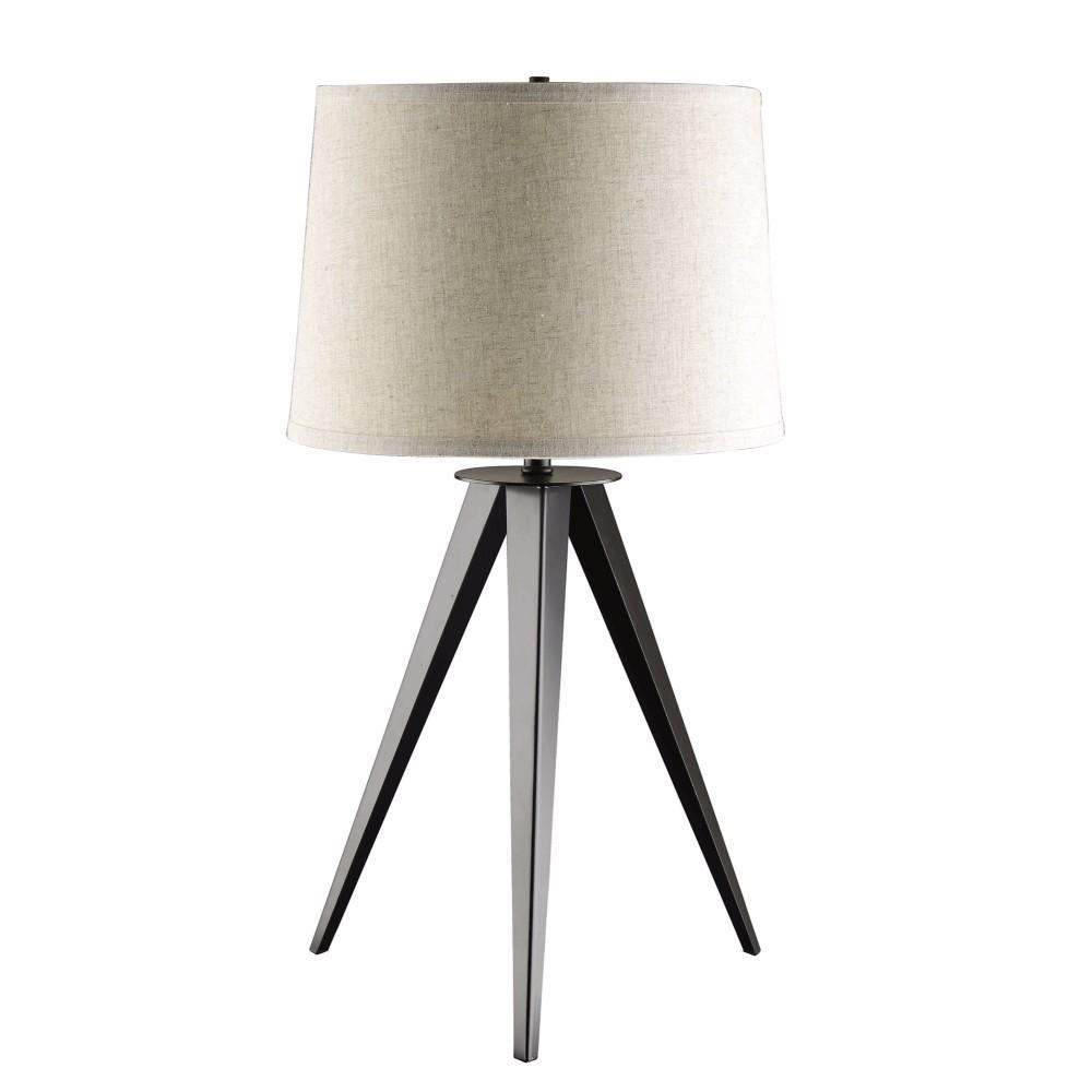 Table Lamp With Tripod Base, Gray And White - BM163950