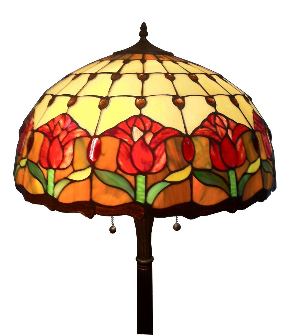Tiffany Style Tulips Floor Lamp 62 inch high