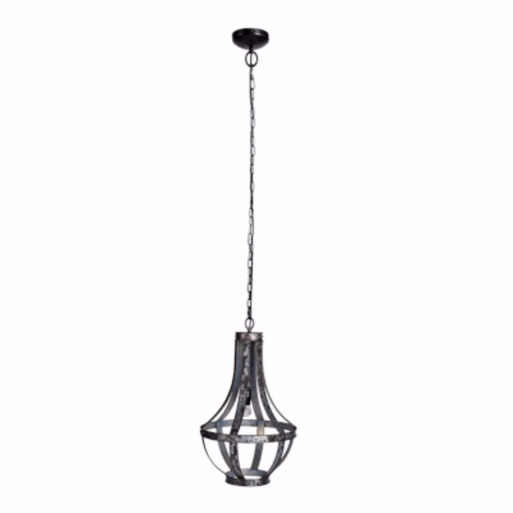 Well Designed Iron Lantern 1-Light Pendant