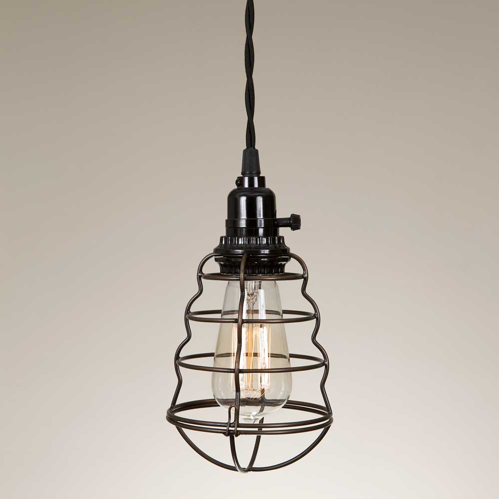 Wire Cage Pendant Lamp Limited Quantity Available