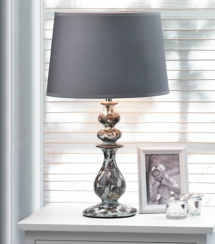 Weathered-Look Ceramic Table Lamp