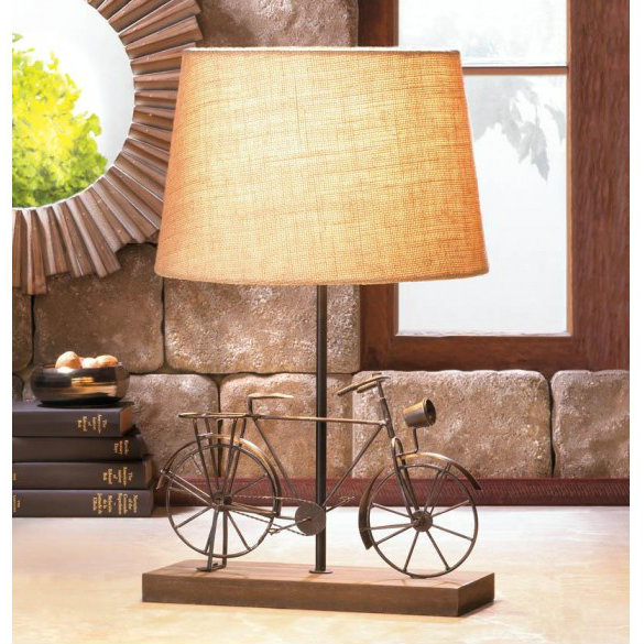 Metal Bicycle Table Lamp