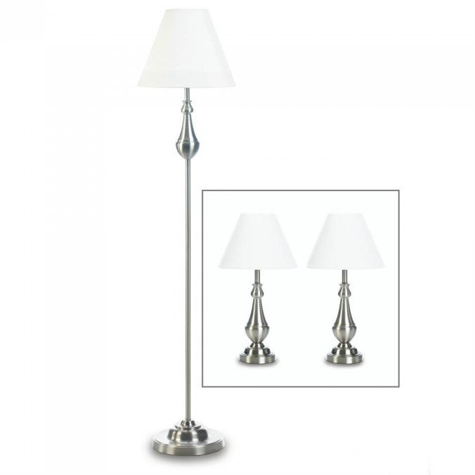 Turned-Look Classic Lamp Trio