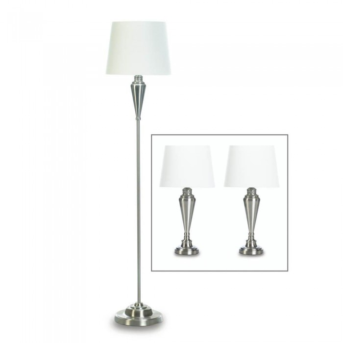 High-Polished Nickel-Plated Lamp Trio
