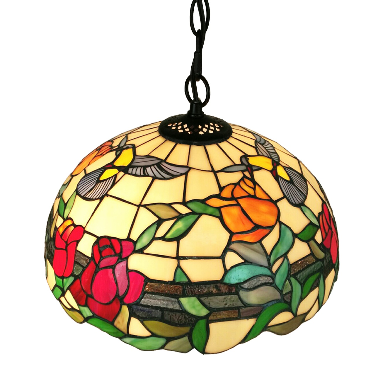 Floral Hanging Pendant Lamp 2 Light